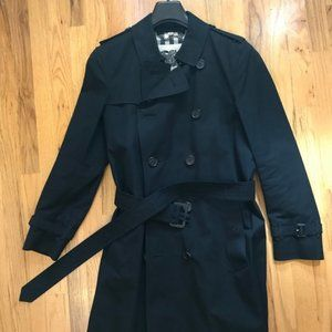 Burberry Black Mens Trench Coat